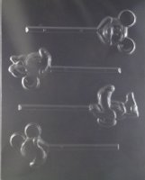 Mickey Minnie Mouse Pluto Candy Mold Small