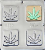 Marijuana Pot Leaf Square Bar Mold