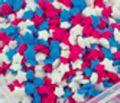 Mini Red White Blue Stars Edible Decorative