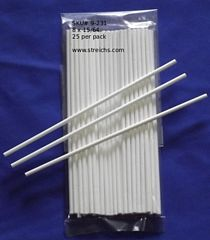 8 x 15/64 Sucker Sticks (white paper) 25 pc pack